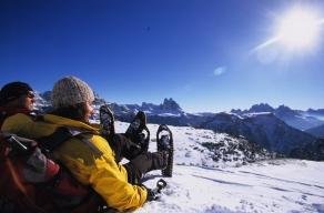 vista panoramica da Prato Piazza verso le Dolomiti di Sesto