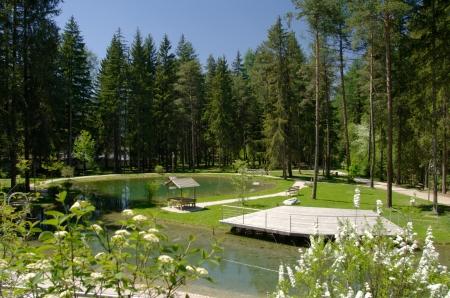 Il Kurpark di Villabassa con l'impianto Kneipp