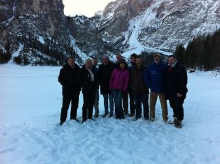 Ice check sul lago di Braies